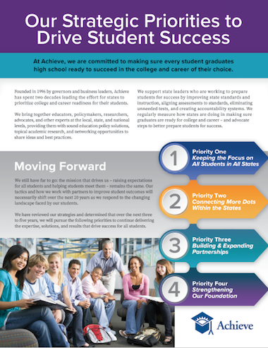 Our Strategic Priorities to Drive Student Success